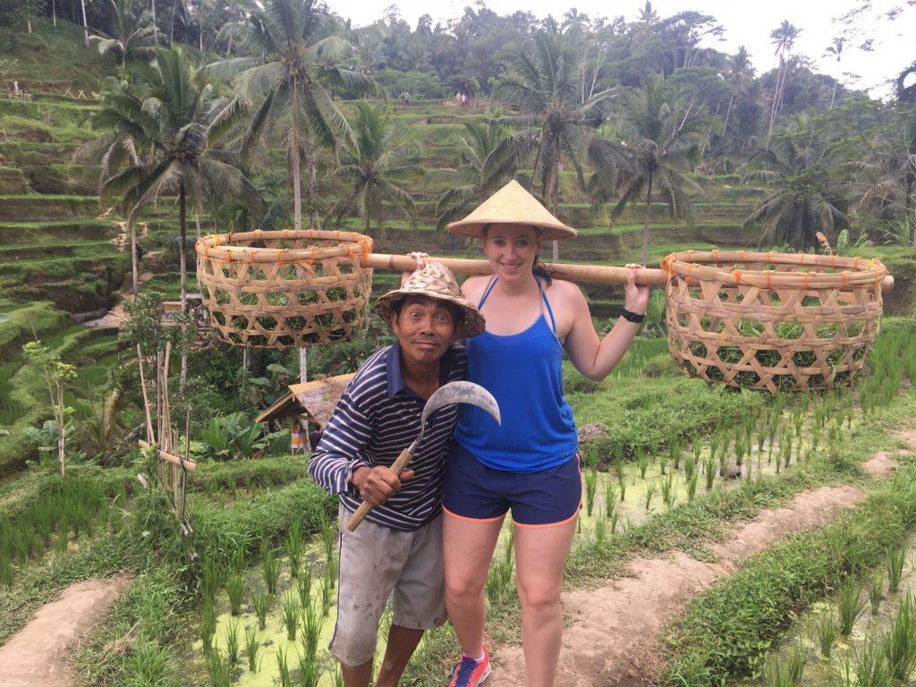 Route Indonesië tegalalang rijstvelden ubud