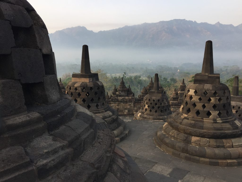 Route Indonesië Borobodur