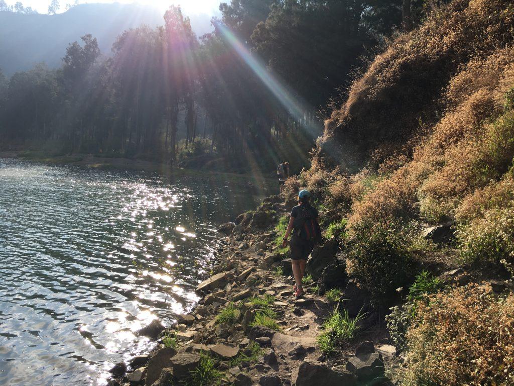 Laatste keer klimmen Mount Rinjani