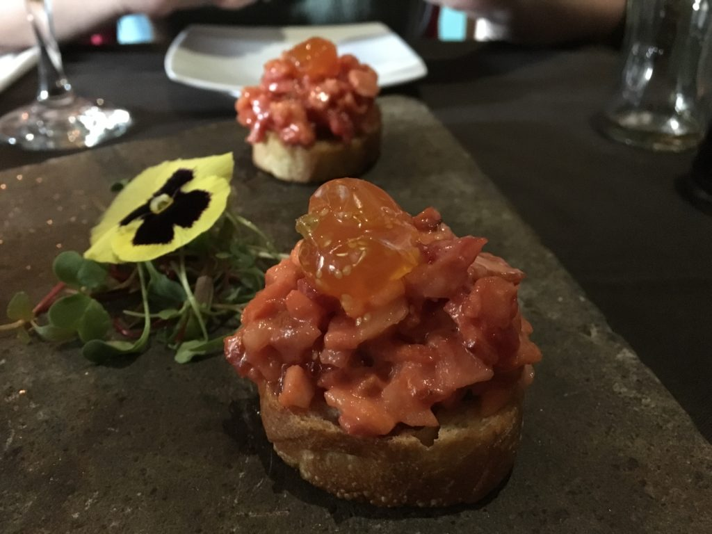 Bruschettas: Aguayanto & Smoked Bacon