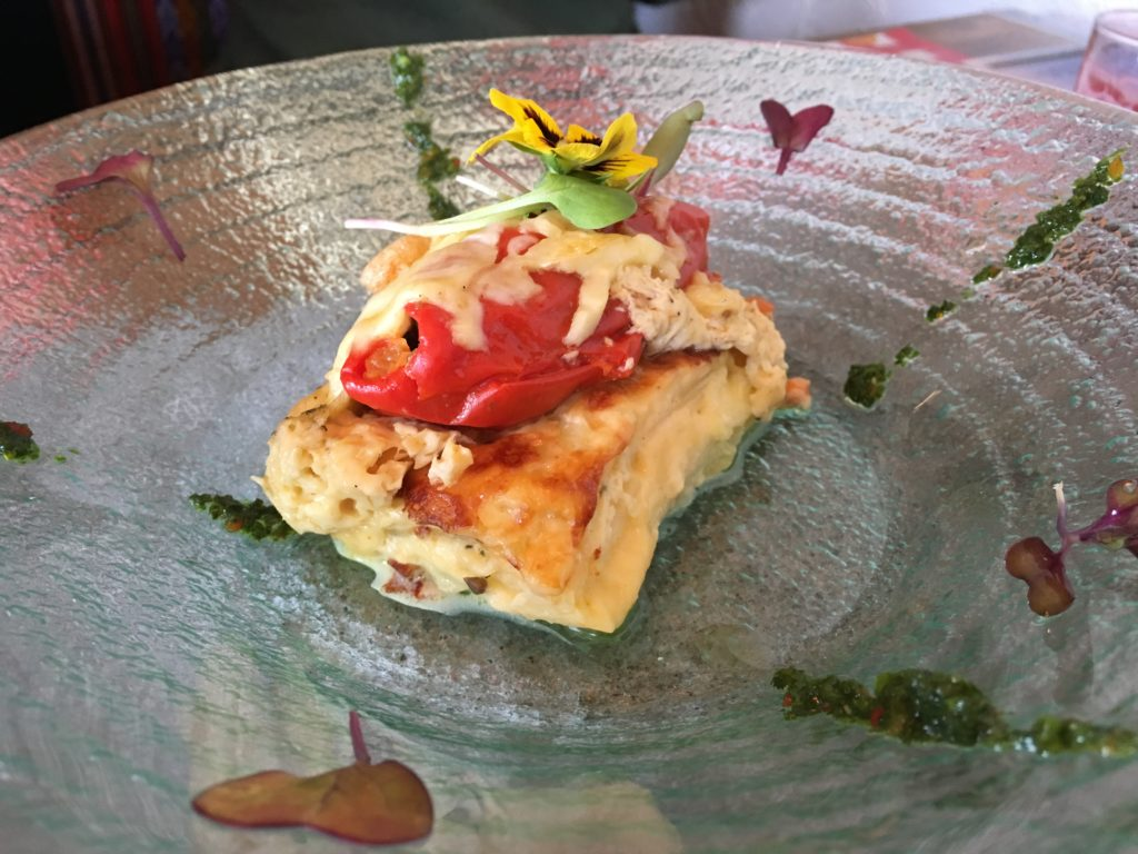 Eten in Cuzco: Stuffed Rocoto Pepper Soufflé