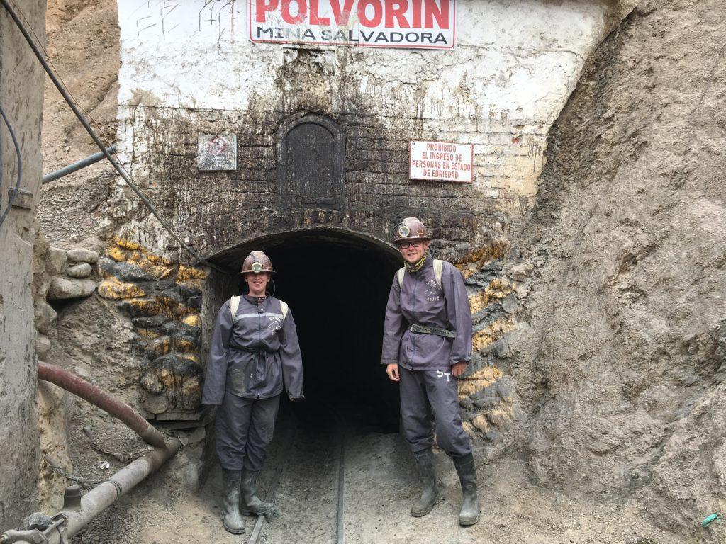 Bezoek aan de mijnen van Potosi