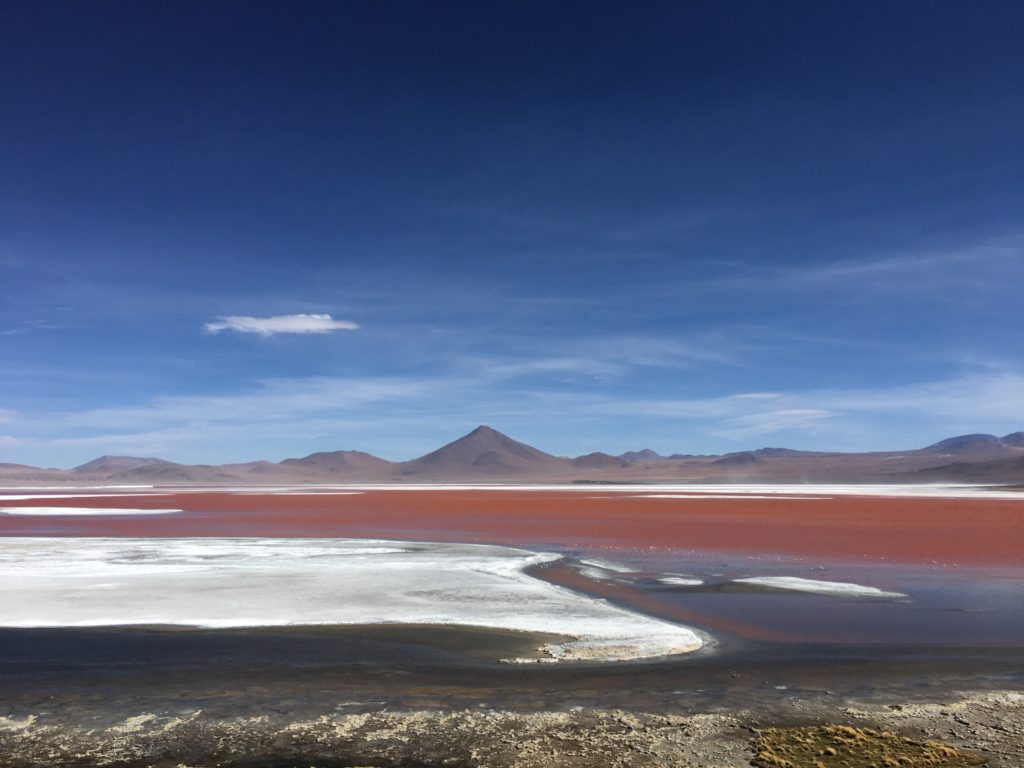 The Red Lagoon tijdens de Salar de Uyuni tour