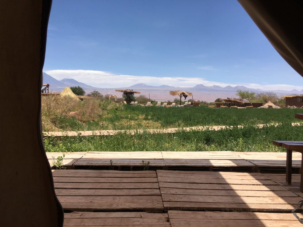 Uitzicht vanuit onze safaritent