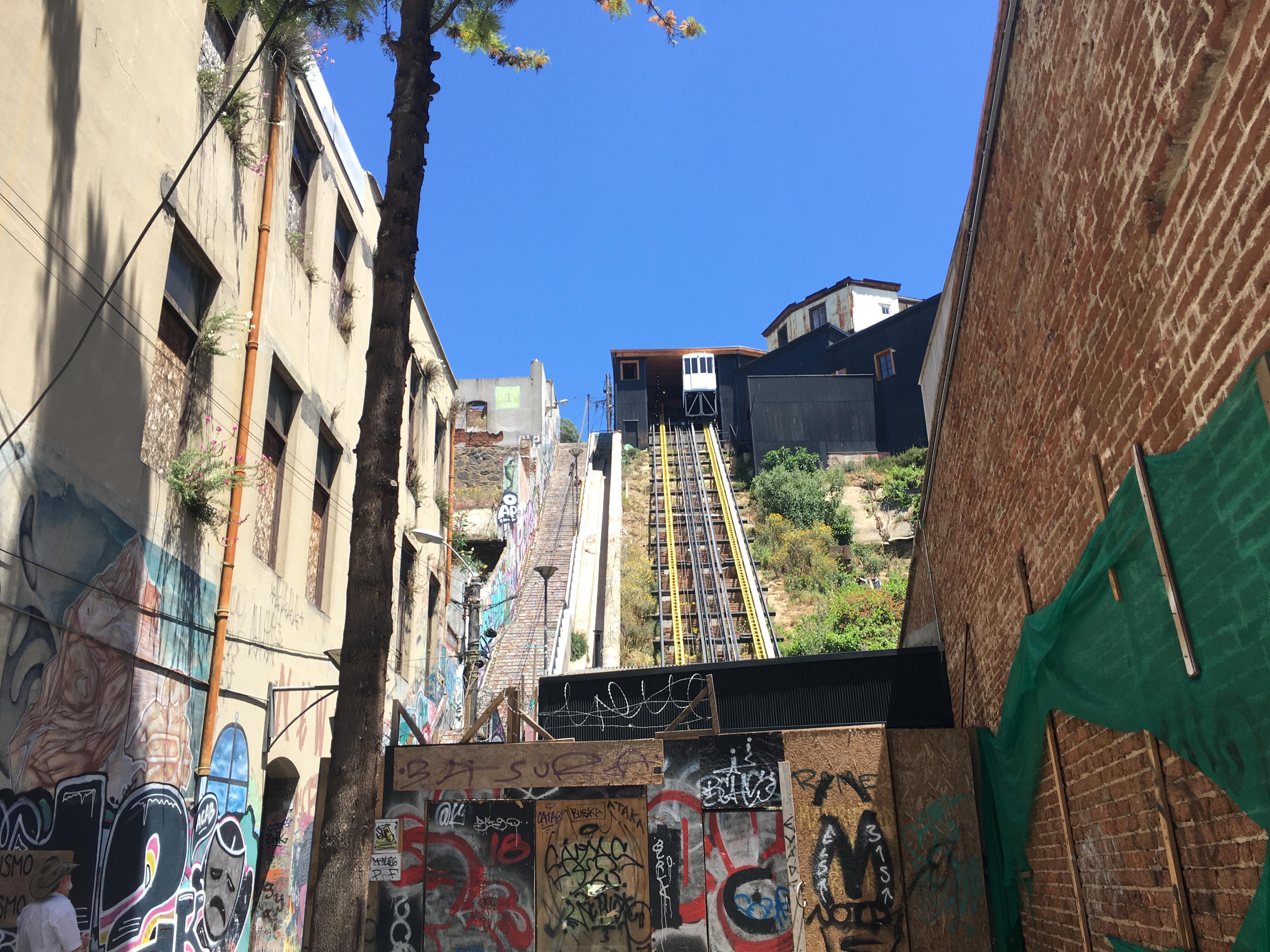 Highlights van Valparaiso: Een van de vele funiculars, dit is niet de Concepcion
