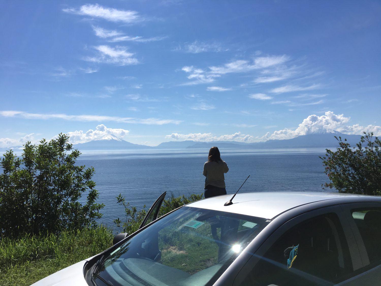 Met de auto door het merengebied van Chili