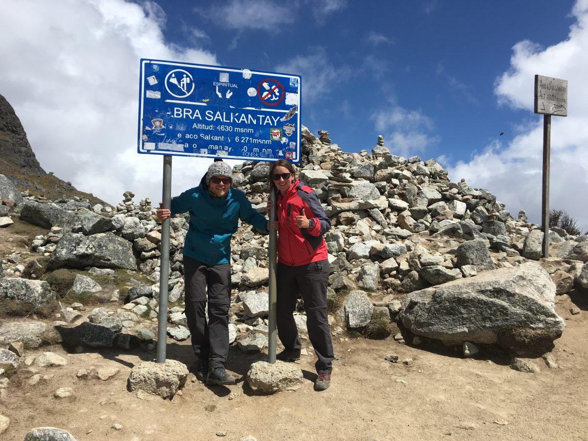 Salkantay trek: Dag 2, het passeren van de Salkantay Pass