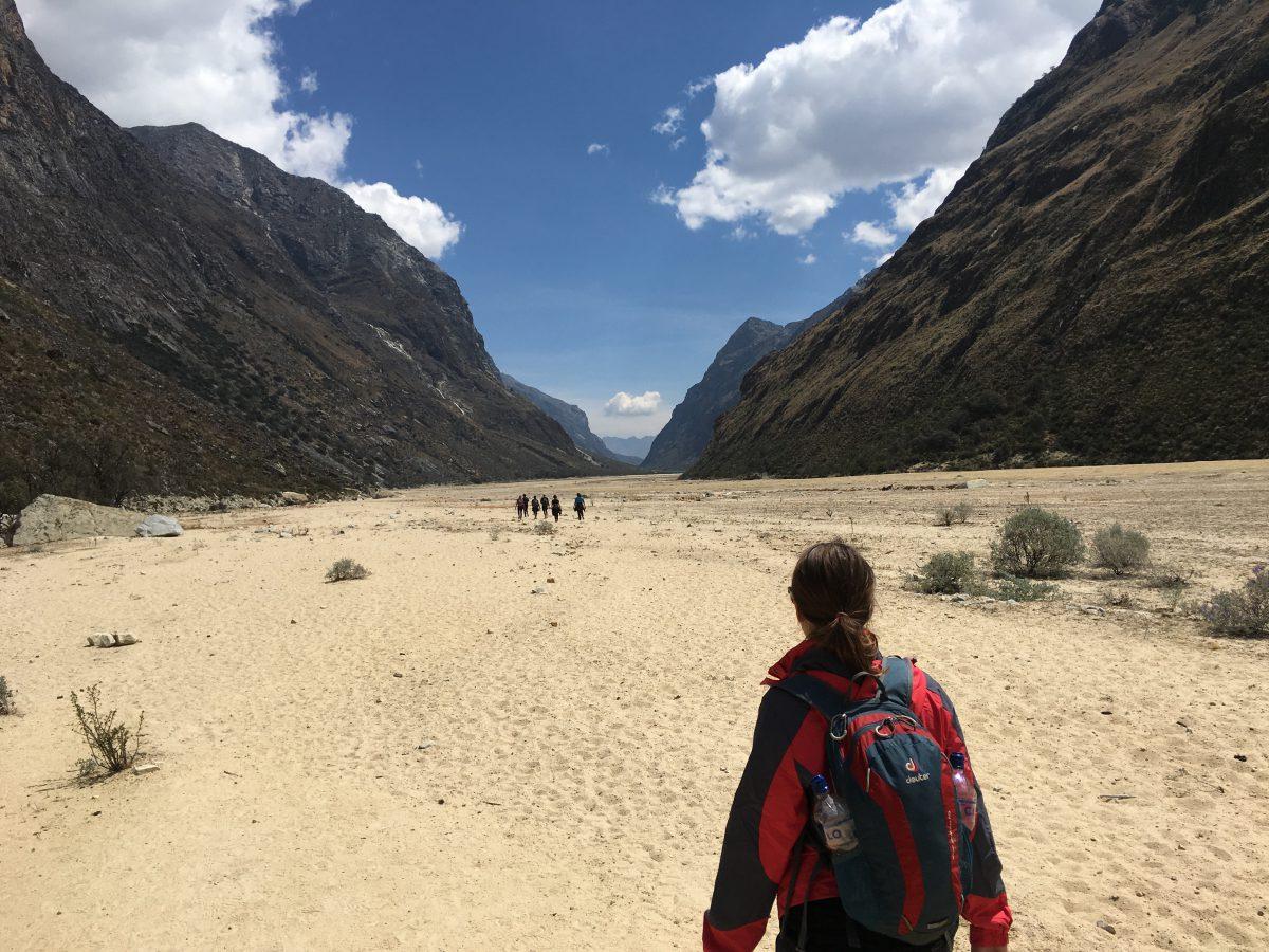 Santa Cruz Trek dag 3: Nu weer in woestijnachtig landschap