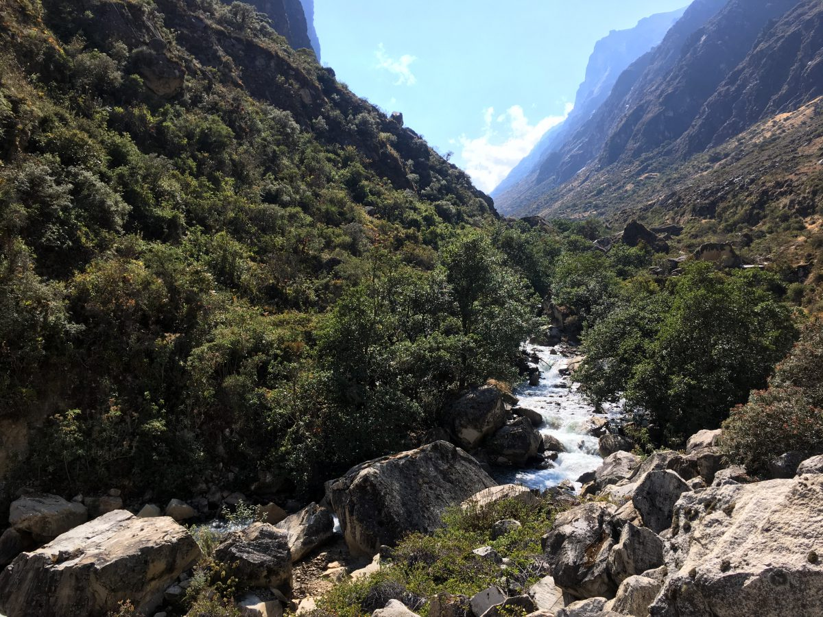 Santa Cruz trek: Laatste dag langs de Cashapampa rivier